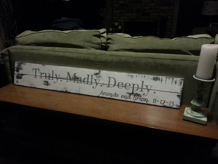 truly madly deeply pallet sign, crafts, pallet, repurposing upcycling