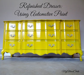 Refinished French Provincial High Gloss Furniture Automotive Paint, Chalk  Paint, Painted Furniture, After