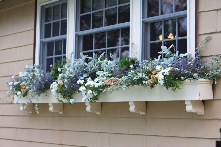 window box samples, curb appeal, gardening, window treatments, windows, Summer window box full sun