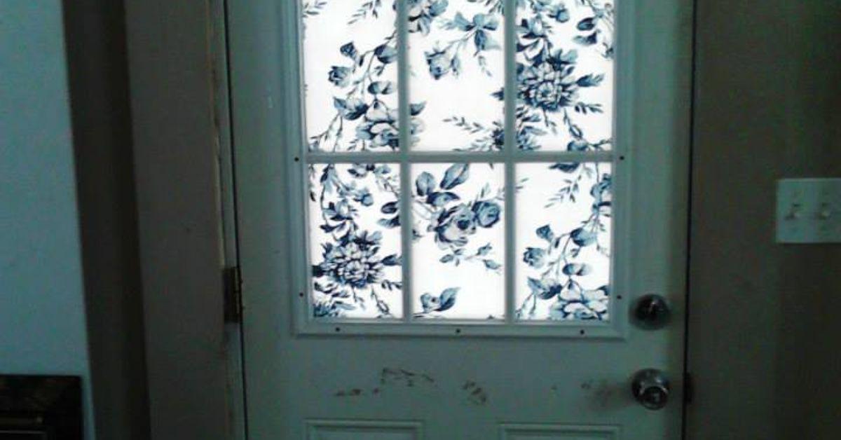 Covering A Half Glass Front Door Hometalk