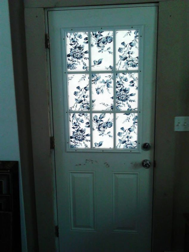 Covering A Half Glass Front Door Hometalk