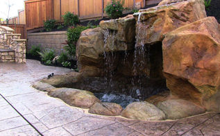 beautiful backyard water features waterfalls water gardens grottoes, landscape, outdoor living, ponds water features