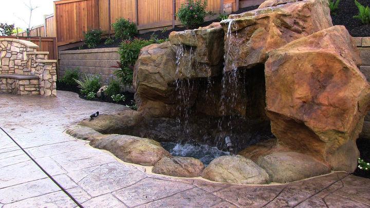 beautiful backyard water features waterfalls water gardens grottoes, landscape, outdoor living, ponds water features