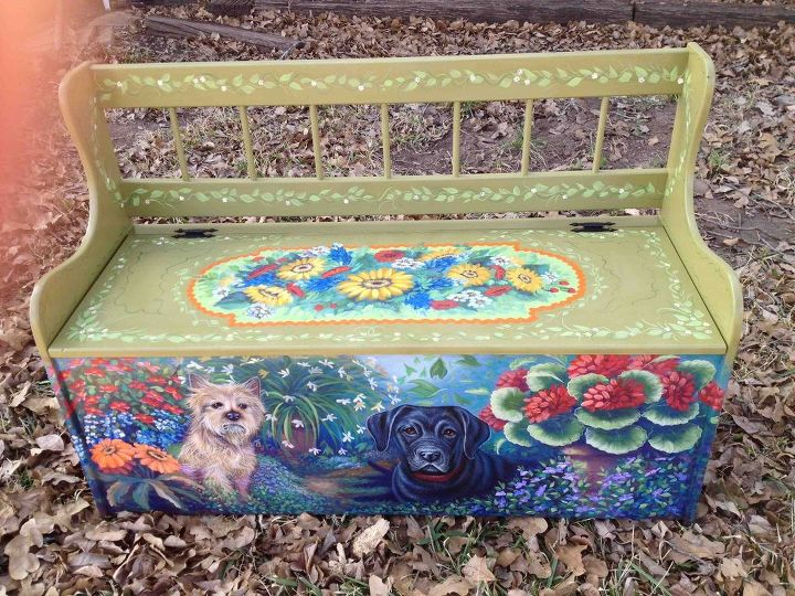 Bench after I painted it