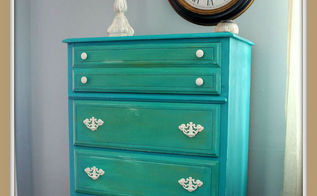 drab to fab beachy dresser makeover, painted furniture, I just love the colors and can t wait for SPRING or SUMMER