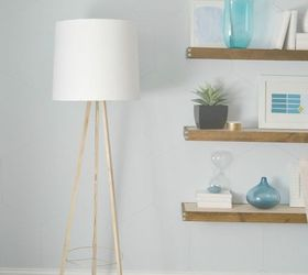 Diy Tripod Floor Lamp A West Elm Knock Off, Diy, Home Decor, Lighting