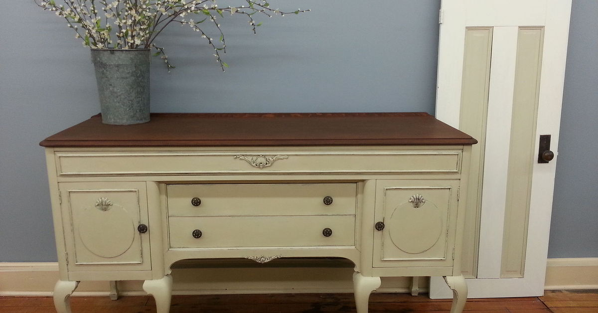 Flat Screen Repair >> Buffet Painted With Chalk Paint® Decorative Paint by Annie Sloan   Hometalk