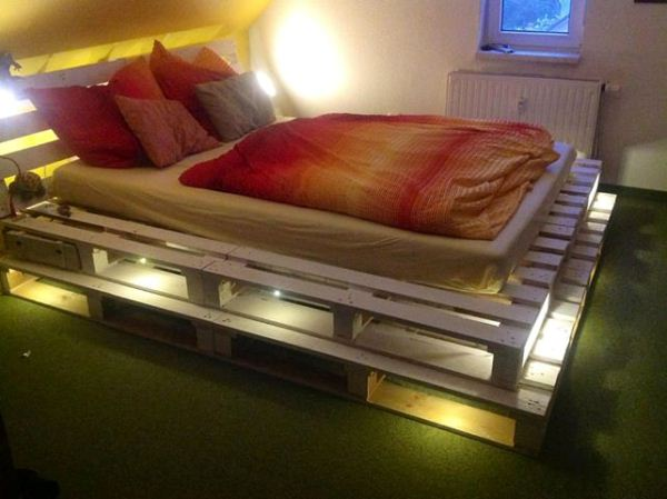 Diy Glowing Palette Bed Bedroom Ideas Home Decor Lighting Painted