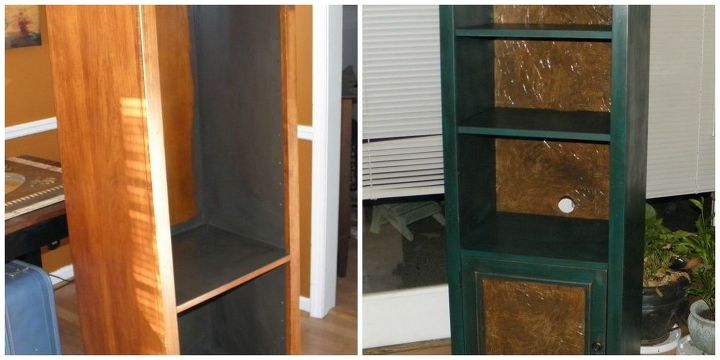 cabinet redo from blah to beautiful before after, chalk paint, painted furniture, Before and after