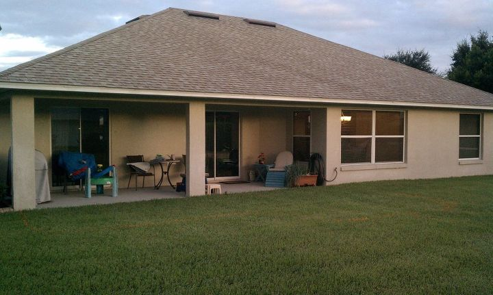 a huge backyard in clermont fl is transformed by pavers and a cleaner look, concrete masonry, decks, landscape, Before
