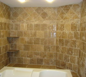 Travertine Tile Jacuzzi, Bathroom Ideas, Tiling, Travertine Tile  Installation Berlin Nj