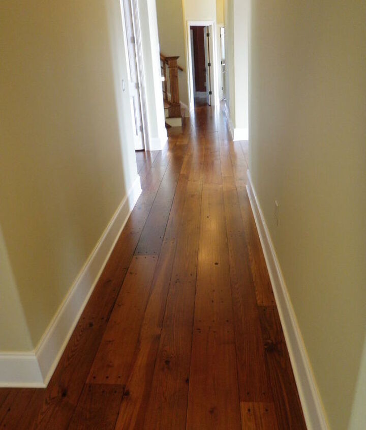 working on more heart pine floors great deal on reclaimed if anyone wants to get in, flooring