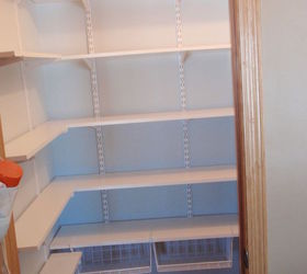 Coat Closet Made Into A Simple Walkin Pantry, Closet, Storage Ideas, Went  With