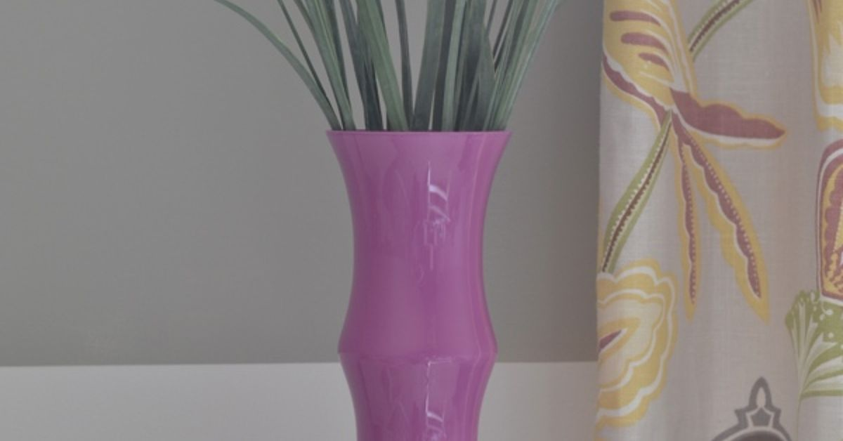 Radiant Orchid Painted Glass Vase Hometalk