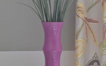 Radiant Orchid Painted Glass Vase