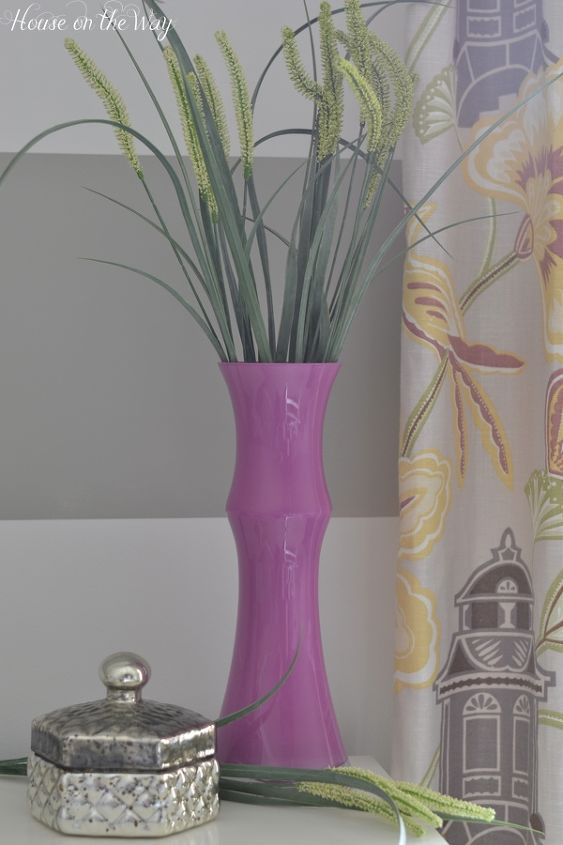Radiant Orchid Painted Gl Vase