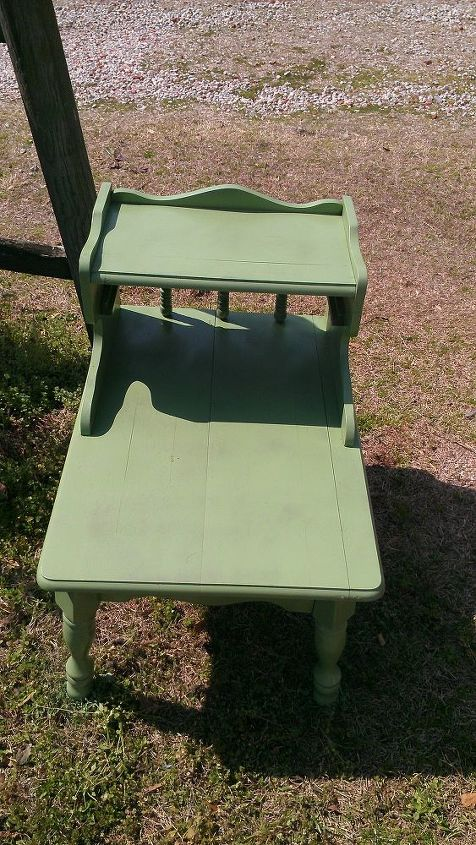 side table painted green
