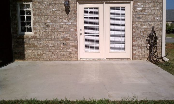 solid granite landscape paver patio before amp after pictures our customer had, concrete masonry, patio, BEFORE