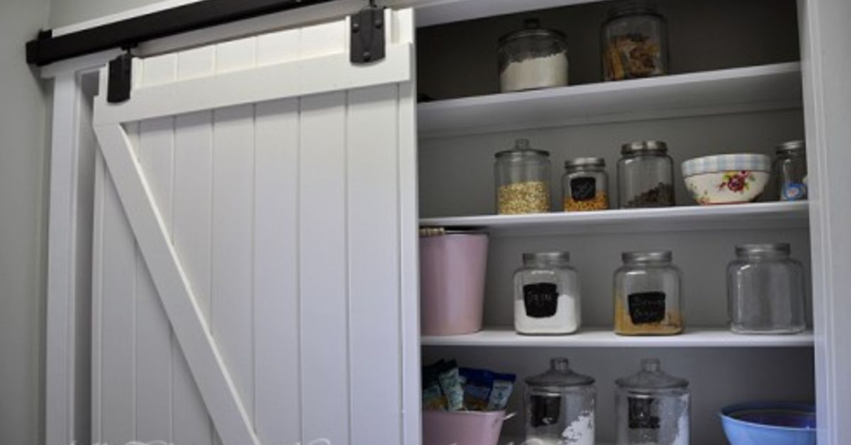 Adding A Pantry W A Sliding Barn Door Hometalk