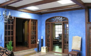 yesterday i posted the historic kitchen that won the local nari 2012 coty contractor, foyer, home decor, After we rebuilt the roof and installed four skylights we rebuilt the steps to the adjoining rooms and redid the floor coverings in a more appropriate manganese floor tile