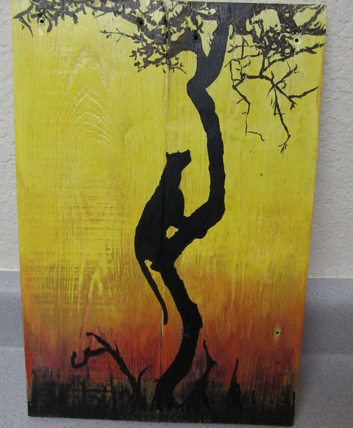 pallet art yes i copied the picture, crafts, home decor, pallet