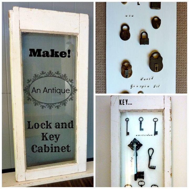 Diy Antique Lock And Key Display Cabinet Hometalk