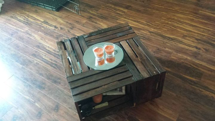 crate coffee table, diy, painted furniture, pallet, repurposing upcycling
