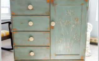 1960 s maple wardrobe from salvation macy s this piece is painted with annie sloan, chalk paint, painted furniture, Coco Duck Egg Blue Annie Sloan chalk paint w clear dark wax Handpainted wildflowers and painted knobs