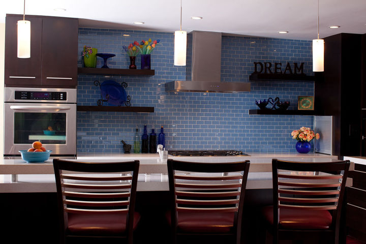the goal was to create an updated open floor plan in a 1980s home despite its, home decor, kitchen design, kitchen island