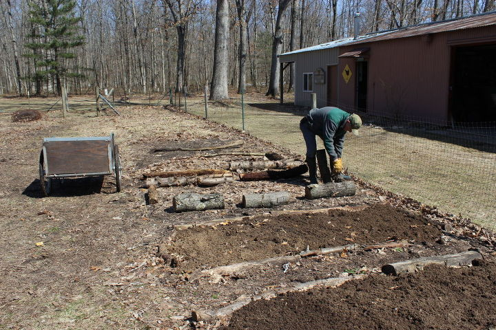 testing composted horse manure in the garden, flowers, gardening, perennials