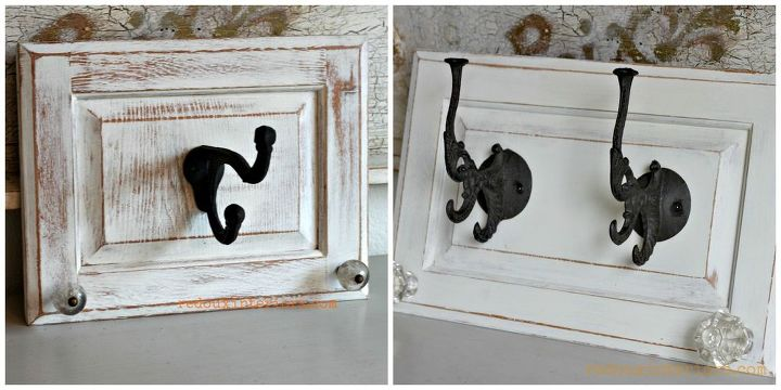 Repurpose Cabinet Doors To Coat Hooks Hometalk