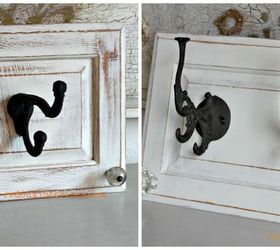 Repurpose Cabinet Doors To Coat Hooks, Home Decor, Repurposing Upcycling