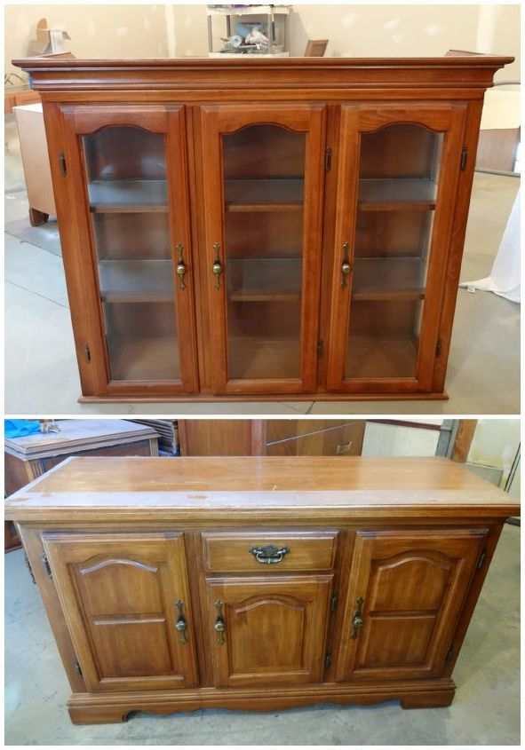 country hutch makeover, painted furniture