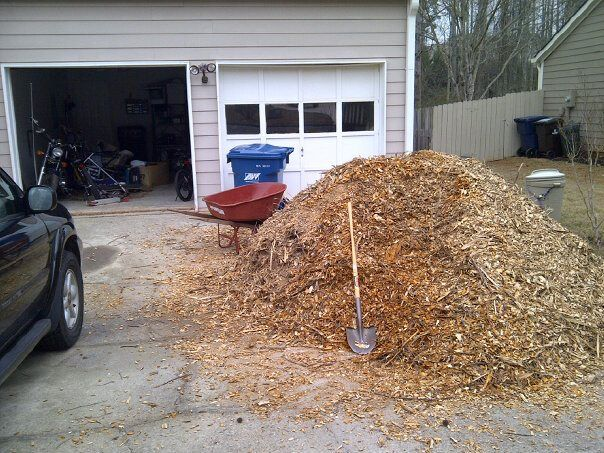 q i have a wood chip mountain and don t know what to do, gardening