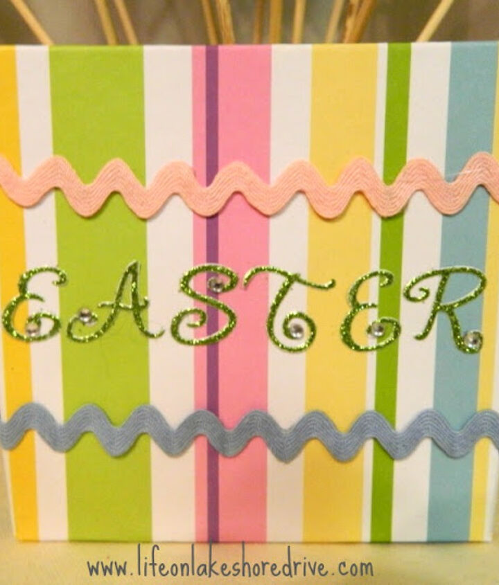 easy diy dollar store easter egg centerpiece, crafts, easter decorations, seasonal holiday decor