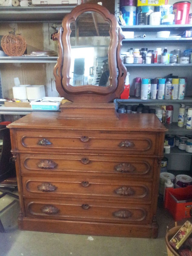 painted antique victorian dresser, painted furniture - Painted Antique Victorian Dresser Hometalk