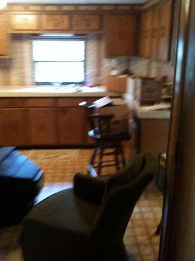 my old funky kitchen into a new french country space, diy, flooring, hardwood floors, home decor, kitchen design
