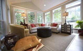 sunroom addition, home decor, home improvement, living room ideas, outdoor living