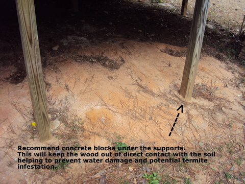 always try to keep the wood around your home out of direct contact with the soil, home maintenance repairs, pest control, For more Home Owner s Tips visit PropertyInspectorsofAtlanta com
