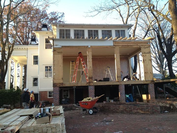 incopork inc is working in an addition of a family room w patio deck or terraza, decks, home improvement, outdoor living, patio, demo old family room