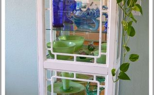 a flea market flip curio cabinet, home decor, living room ideas, painted furniture