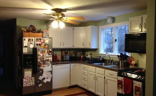 under 350 kitchen makeover part two painted kitchen cabinets, diy, home improvement, how to, kitchen backsplash, kitchen cabinets, kitchen design, painting