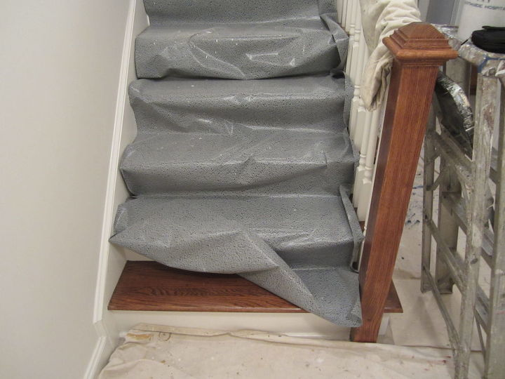 best inventions since polyester fleece, painted furniture, 3M Floor grabbers are the ticket when painting over wood steps