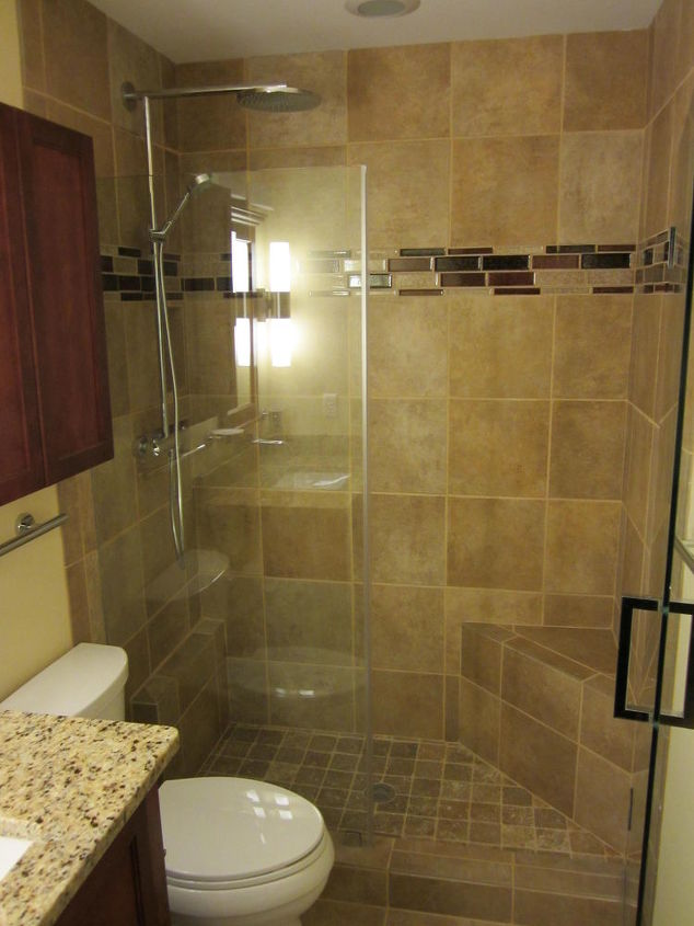 another small space we just finished i just love how glass really sets a small area, bathroom ideas, home decor