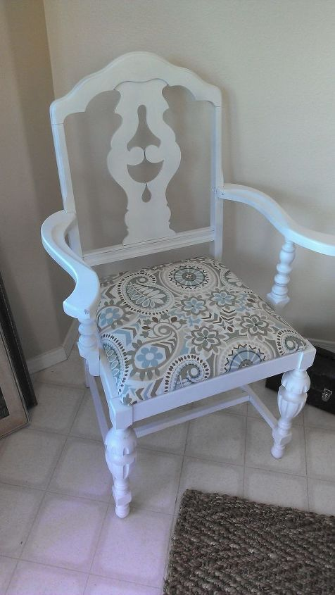 antique chair makeover, painted furniture