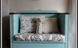 antique dresser turned bench, painted furniture, repurposing upcycling