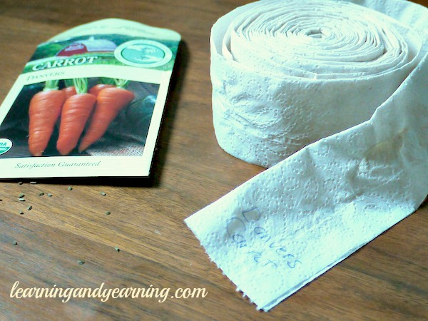 make your own seed tape, gardening