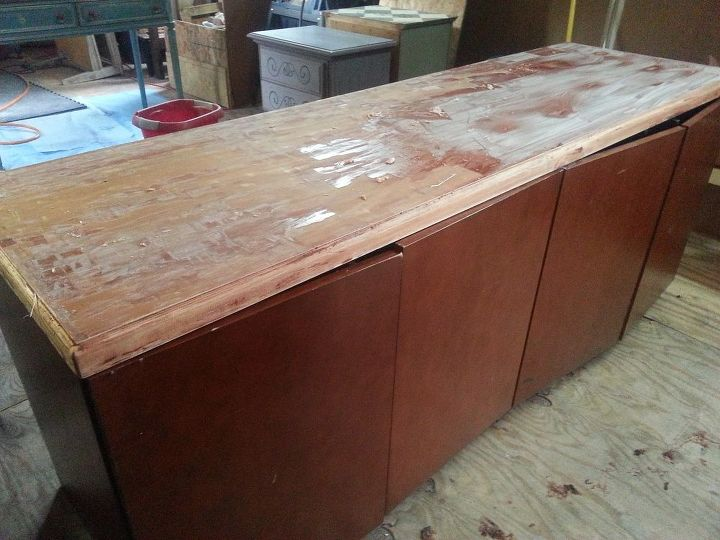beauty the beast stained art sideboard buffet transformation, painted furniture