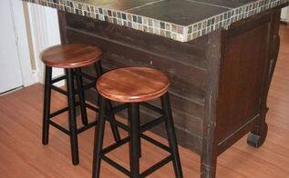 buffet turned island, kitchen design, kitchen island, painted furniture, repurposing upcycling