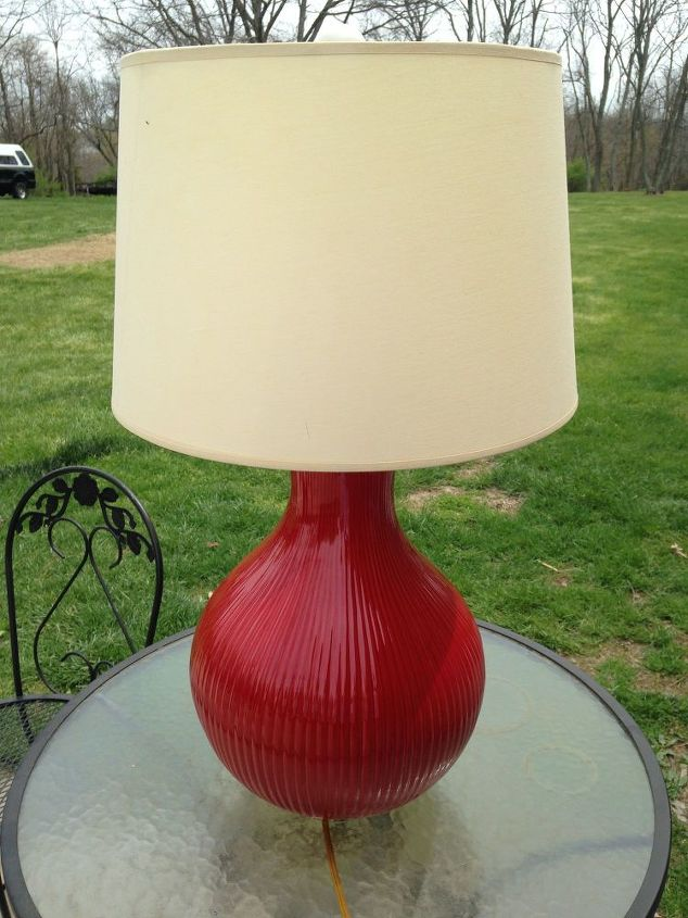 Ugly Red lamp WITH potential!